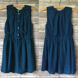 United Colors Of Benetton Dresses - Benetton Girls Dark Teal Polka Dot Dress Sz M